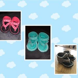 Other - Custom crochet baby sandals